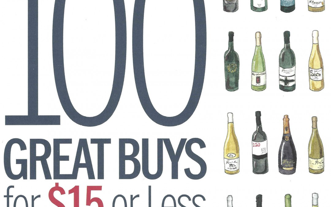 2 Paul Mas wines in the Top 100 great buys for $15 or less in Wine & Spirits Magazine