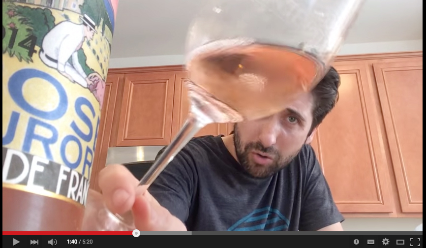 Video tasting Côté Mas Rosé by Jeff Solomon Stay Rad Wine Blog Tv