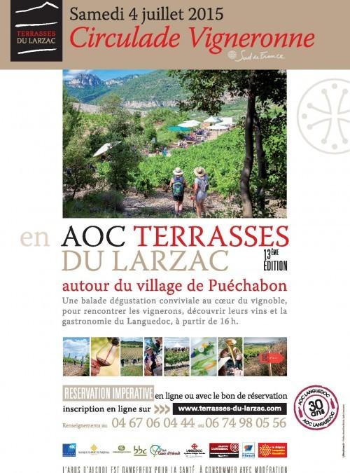 Circulade vigneronne en Terrasse du Larzac
