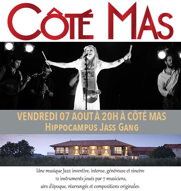 Concert Hippocampus Jass Gang à Côté Mas le Vendredi 7 Aout