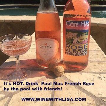 Two beautiful Roseś by Wine With Lisa, perfect for a summer time around the pool
