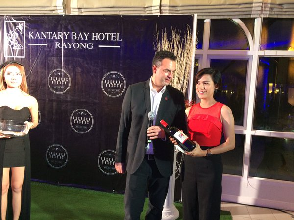 Grand wine tasting at Kantary Bay hotel group at Rayond in Thailand
