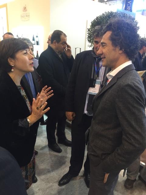 Vinisud 2016, entretien avec Carole Delga Présidente de la nouvelle région Languedoc Roussillon Midi Pyrénées