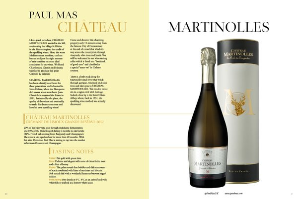 Paul Mas Château Martinolles in Glass of Bubbly magazine