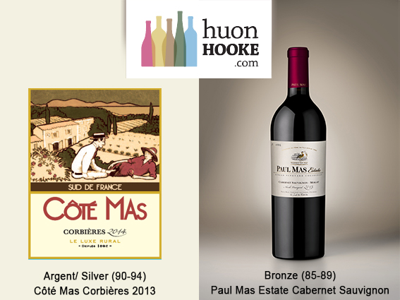 Huon Hooke gives medals to Coté Mas Corbières AOP and Paul Mas Estate Cabernet Sauvignon