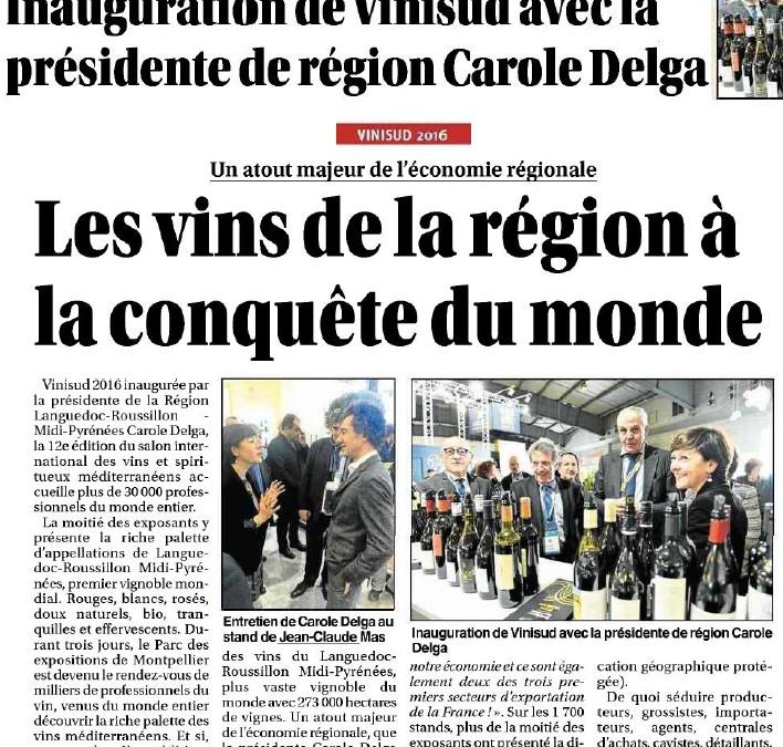 Les vins de la région à la conquête du monde avec Carole Delga à Vinisud
