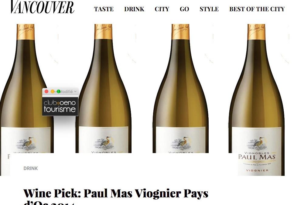 Paul Mas Viognier Pays d'Oc 2014 by Vancouver Magazine