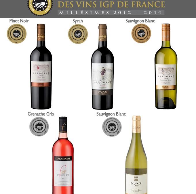 Résultat du concours des vins IGP de France 5 médailles pour les Domaines Paul Mas en IGP Pays d'Oc