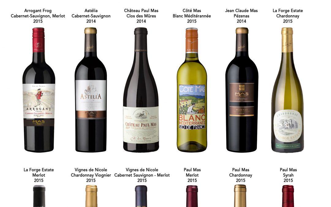 Concours des grands vins du Languedoc Roussillon, 12 médailles d'or