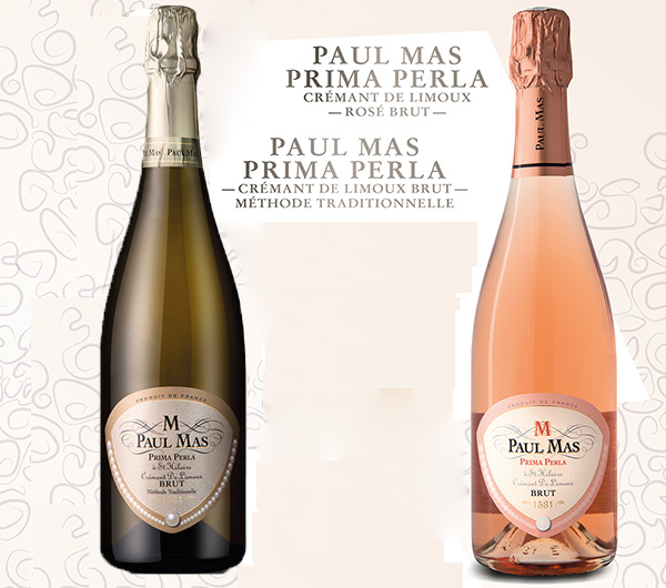 Superbes médailles d'or au concours des crémants de France pour les cuvées Paul Mas prima perla crémant blanc et rosé