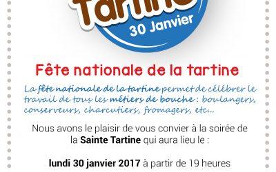 Fête Nationale de la Tartine le 30 Janvier