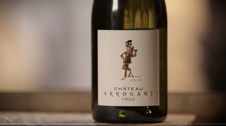 Tasting Chateau Arrogant Frog by Jean Claude Mas