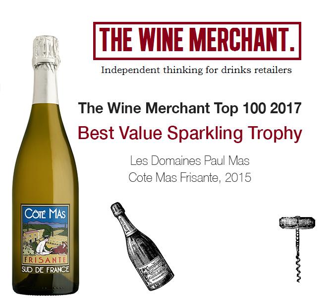 The Wine Merchant Top 100 2017, Côté Mas Frisante Best Value Sparkling Trophy