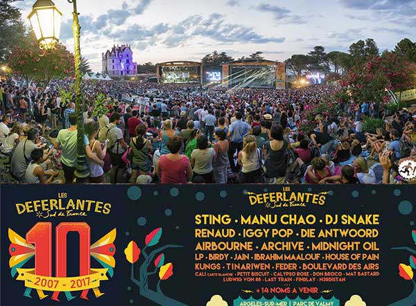 Domaines Paul Mas is official sponsor of the Deferlantes music festival