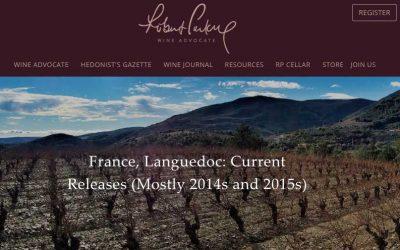 Jeb Dunnuck Wine Advocate Robert Parker Notes de dégustation du Languedoc