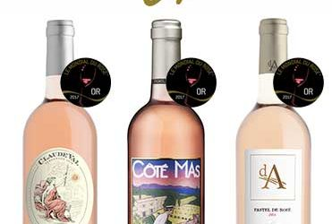 3 gold medals at the competition exclusively reserved for the rosé wines of the world 2017