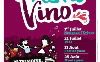 Festa Vino le 25 Août à Montagnac : vin, musique et patrimoine