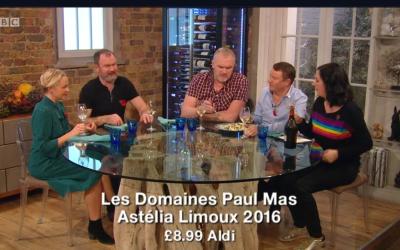 Astelia Limoux Chardonnay on BBC Saturday Kitchen