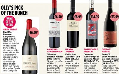 Paul Mas Languedoc Reserve Red is Wine of the Week from Olly Smith in today's Mail on Sunday