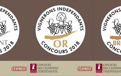 Résultats du Concours des Vignerons Indépendants 2018