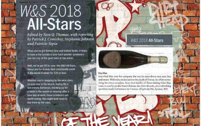 We are in Wine & Spirits magazine 2018 All-Star producer