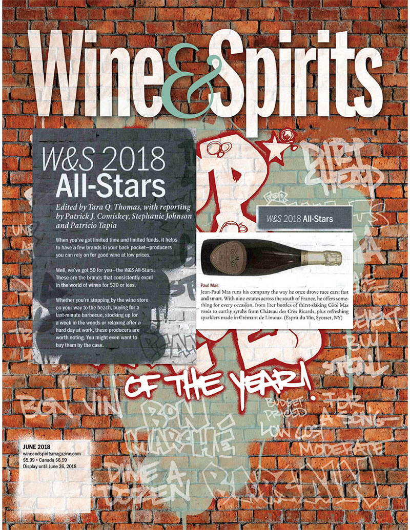 We Are In Wine Spirits Magazine 2018 All Star Producer Les Domaines Paul Mas
