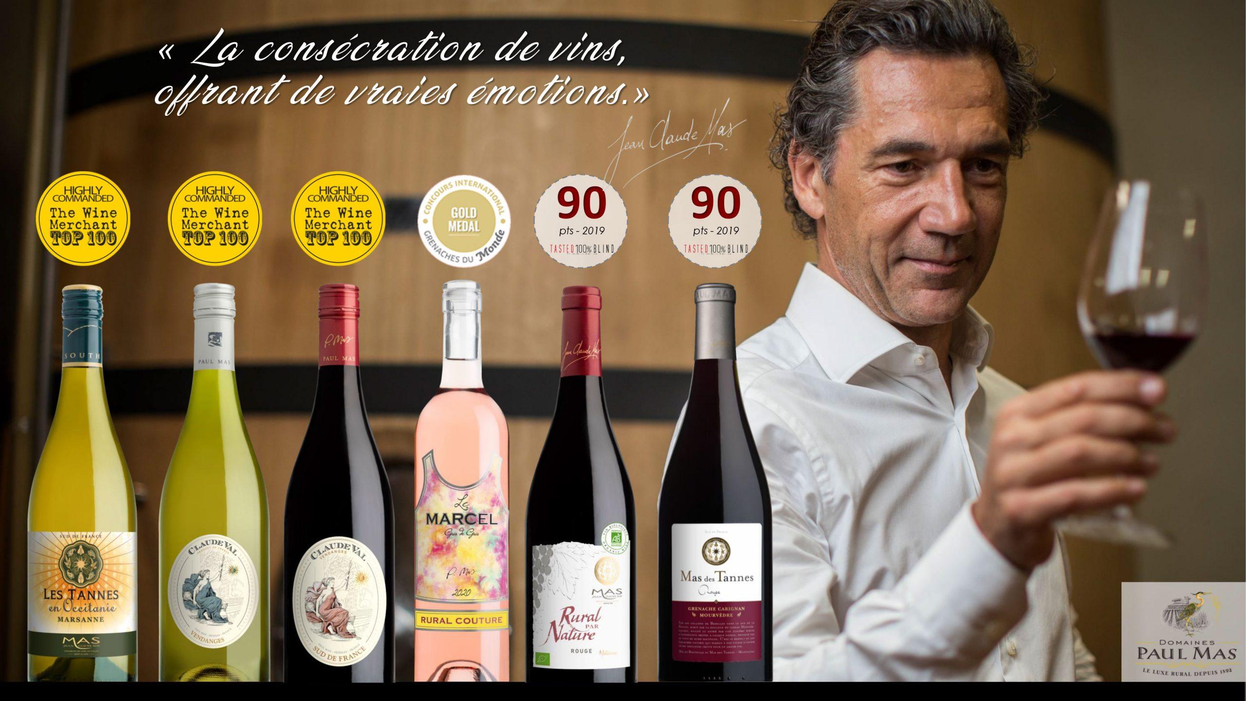 Scores bouteilles Domaine Paul Mas